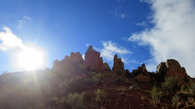 Morning sun over the canyon walls, Burr Trail, Grand Staircase-Escalante National Monument, Utah