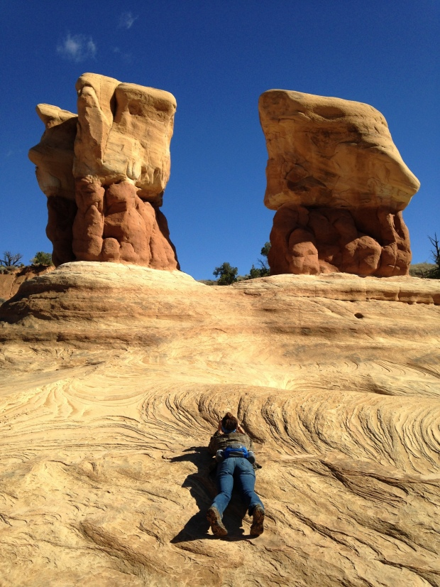 Me taking pictures at Devil's Garden, Hole-in-the-Rock Road, Grand Staircase-Escalante National Monument, Utah