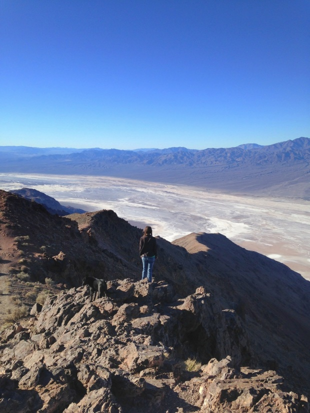 Me overlooking Badwater Basin from near Dante's View, Death Valley National Park, California