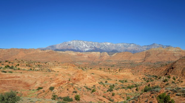 Pine Mountains from Red Cliffs National Conservation Area, Utah