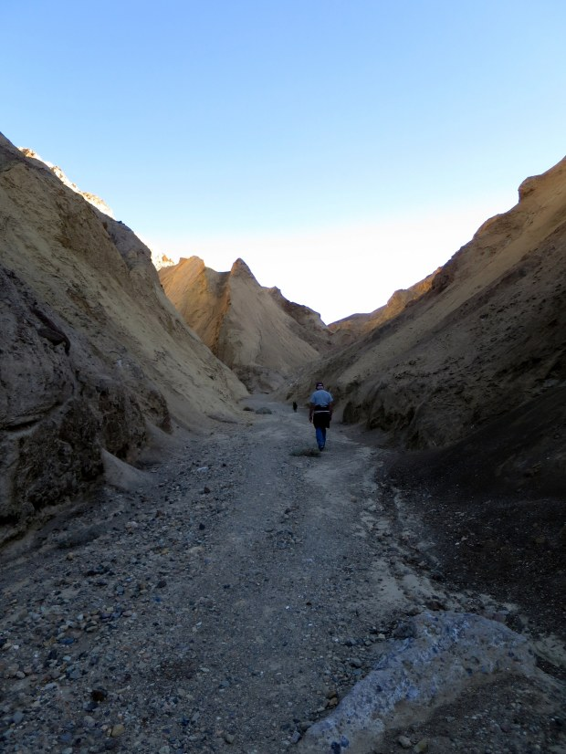 Tom and Abby ahead of me in Desolation Canyon, Death Valley National Park, California
