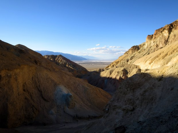 Literally getting blown off a ridge while taking this photo, Desolation Canyon, Death Valley National Park, California