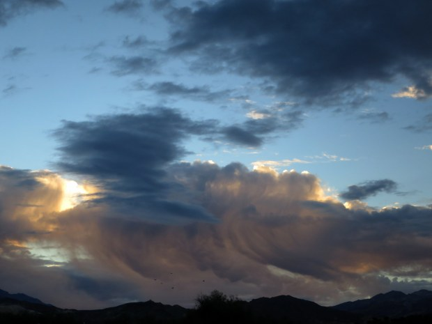 Clouds from camp, Death Valley National Park, California
