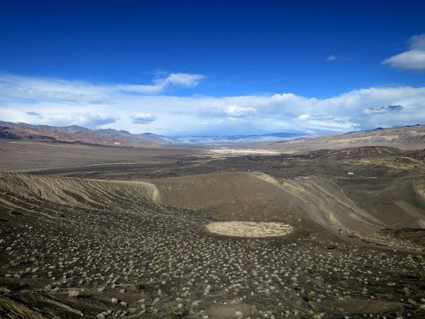 Hiking around Ubehebe Crater, Death Valley National Park, California