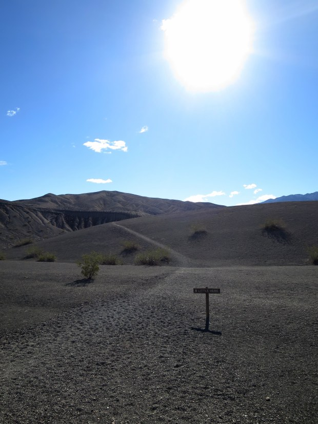 Trail to Little Hebe Crater, Death Valley National Park, California