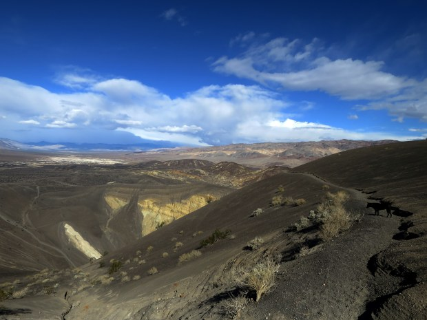 Trail around Ubehebe and Little Hebe Crater, Death Valley National Park, California