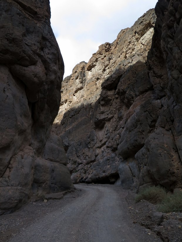 Road through Titus Canyon Narrows, Death Valley National Park, California