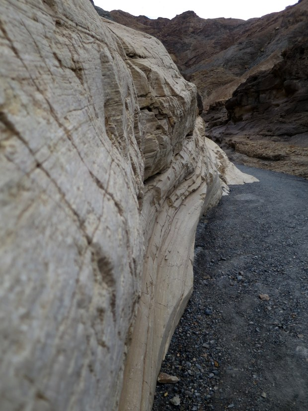Smoothed marble walls of Mosaic Canyon, Death Valley National Park, California