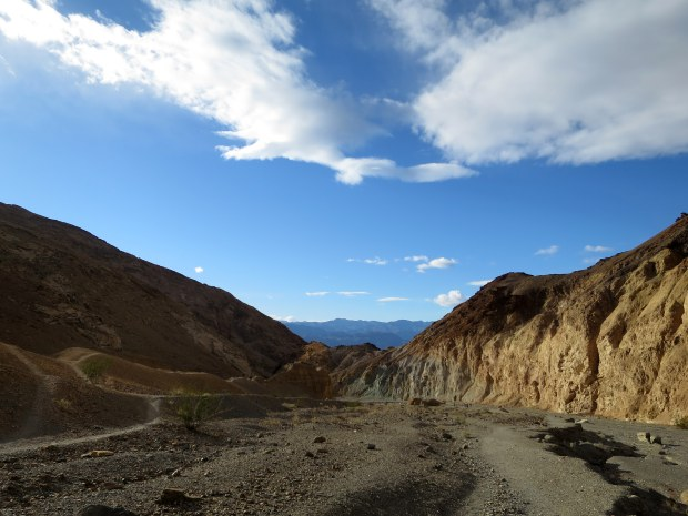 View back to the valley from Mosaic Canyon, Death Valley National Park, California