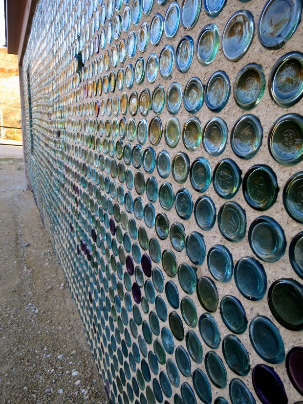 Bottle House detail, Rhyolite, Nevada