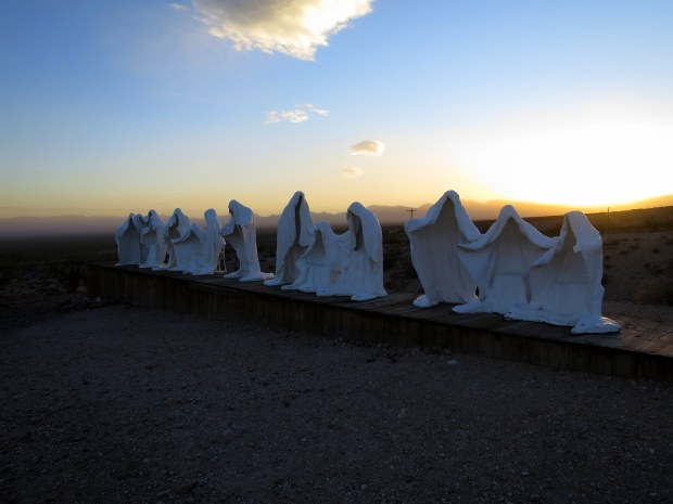 The Last Supper by Albert Szukalski, Goldwell Open Air Museum, near Rhyolite, Nevada