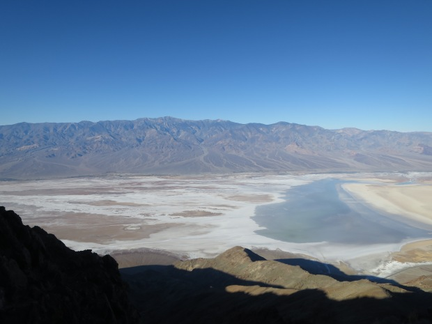 Zoom shot of Badwater from Dante's View, Death Valley National Park, California