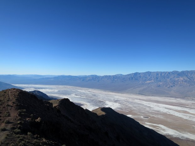 Looking south while walking from Dante's View, Death Valley National Park, California