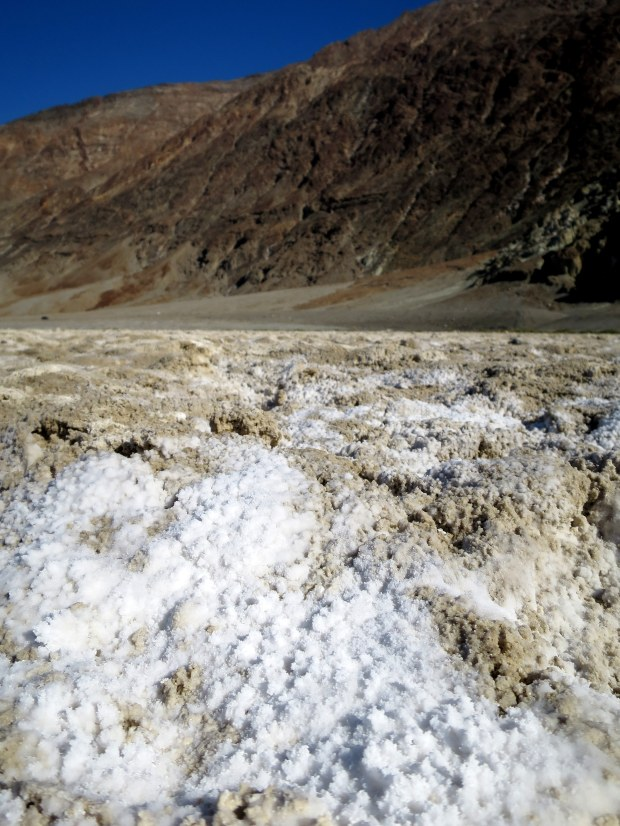 Crystallized salt, Badwater Basin, Death Valley National Park, California