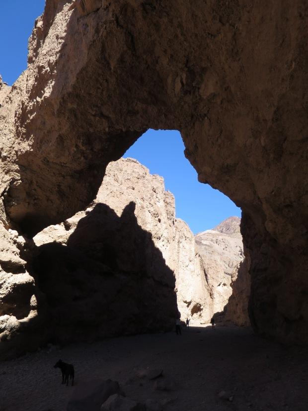 Under the bridge, Natural Bridge Canyon, Death Valley National Park, California