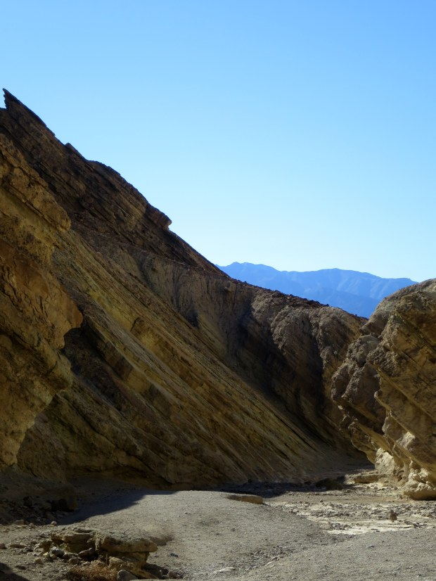 Walls of Golden Canyon, Death Valley National Park, California