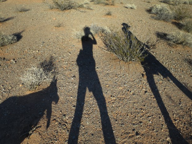 Us walking near Bowl of Fire, Lake Mead National Recreation Area, Nevada