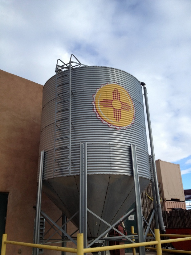 Storm's a comin' so I best head for a brewery. Sante Fe Brewing Company, Sante Fe, New Mexico