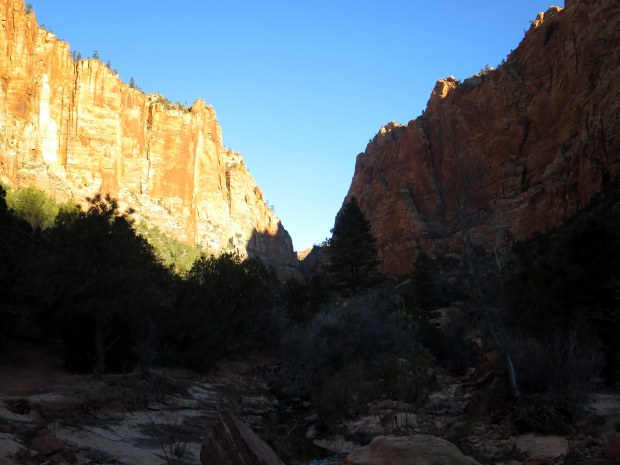 Early morning shadows in Water Canyon, Utah