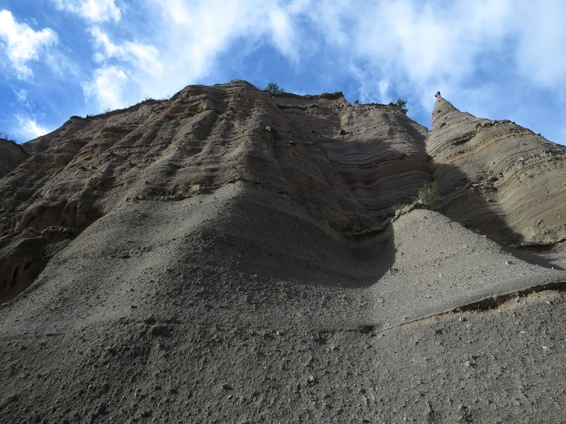 Layers of the canyon wall, Canyon Trail, Kasha-Katuwe Tent Rocks National Monument, New Mexico