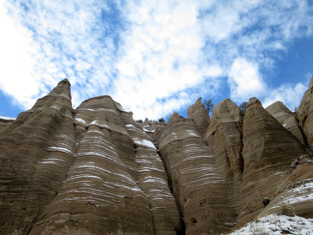 Snow-dusted layers, Canyon Trail, Kasha-Katuwe Tent Rocks National Monument, New Mexico