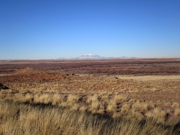 San Fransisco Peaks viewed from Homol'ovi II, Homol'ovi State Park, Arizona