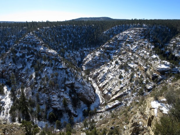 View of the canyon from the Rim Trail, Walnut Canyon National Monument, Arizona