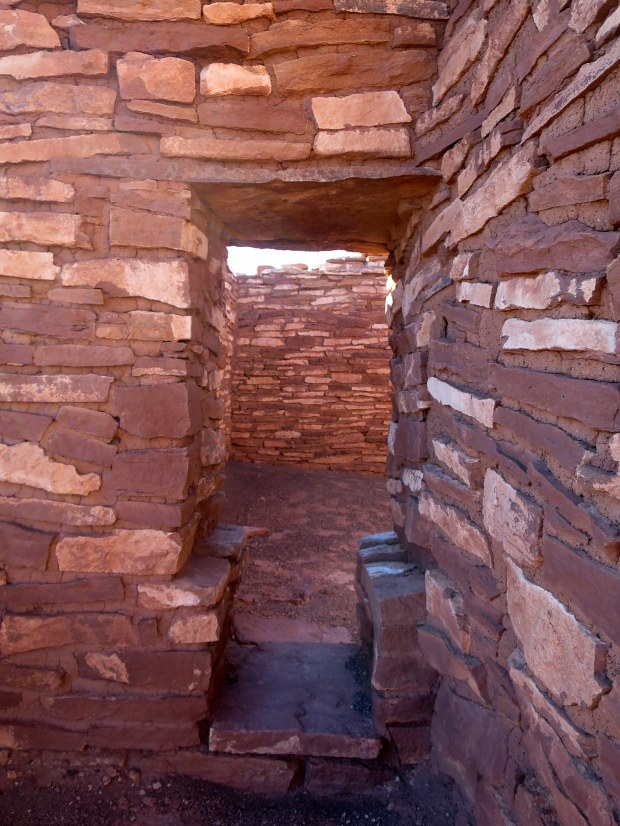Inside Lomaki Pueblo, Wupatki National Monument, Arizona