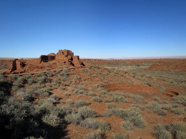 North room block and kiva of Wupatki Pueblo, Wupatki National Monument, Arizona