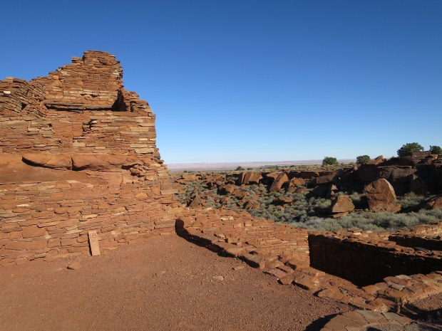 Outside the plaza at Wupatki Pueblo, Wupatki National Monument, Arizona