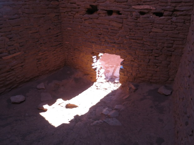 Inside the rooms of Wukoki, Wupatki National Monument, Arizona