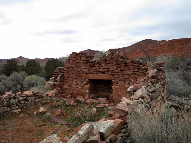 Fireplace in a rock house, Red Cliffs National Conservation Area, Utah