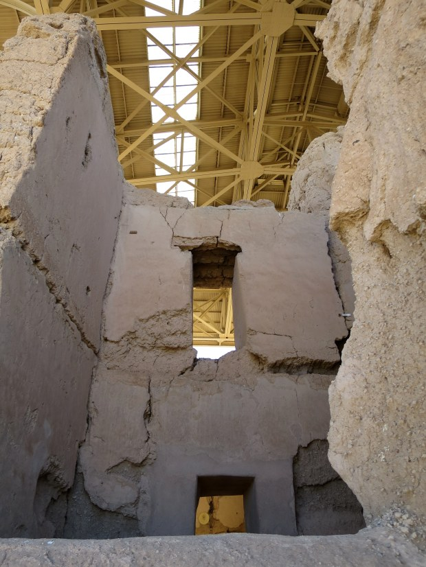 Looking into the Great House, Casa Grande Ruins National Monument, Arizona