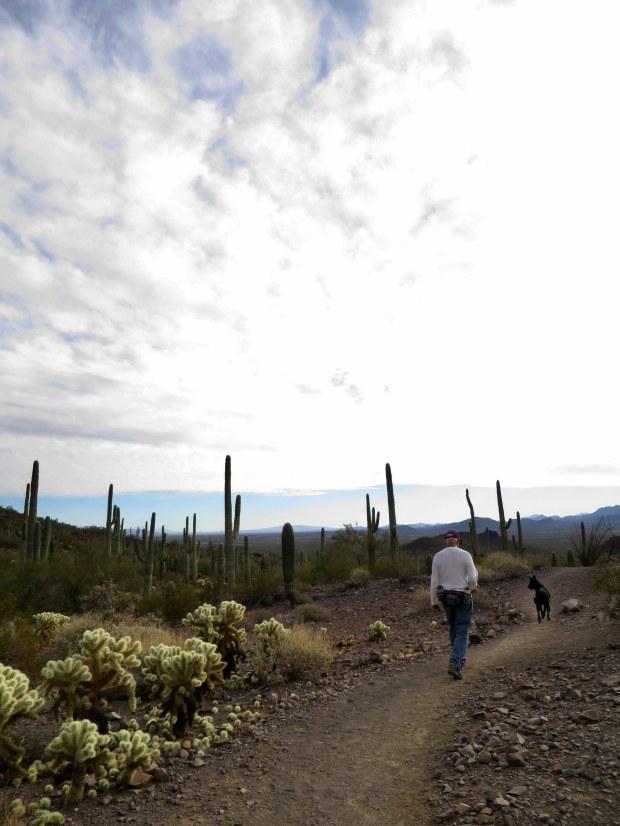 Tom and Abby on the Sunset Vista Trail, Picacho Peak State Park, Arizona