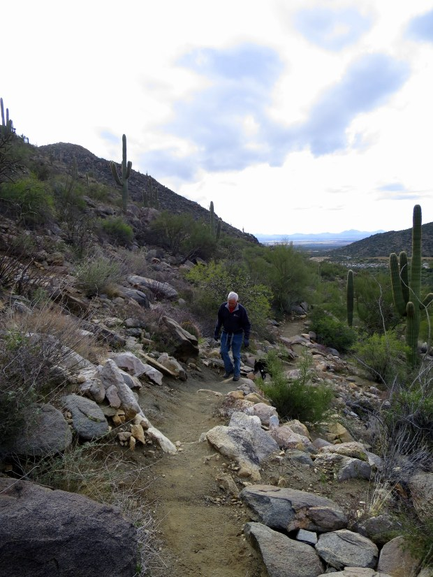 Tom and Abby on the Lower Javelina Trail, Tortolita Mountain Park, Arizona
