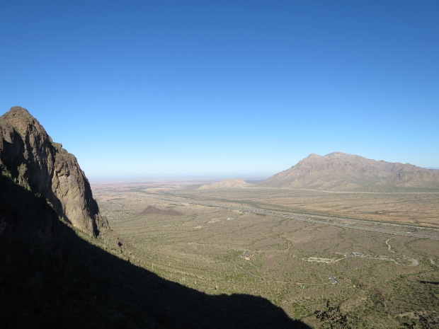 Views while hiking up to the saddle, Hunter Trail, Picacho Peak State Park, Arizona
