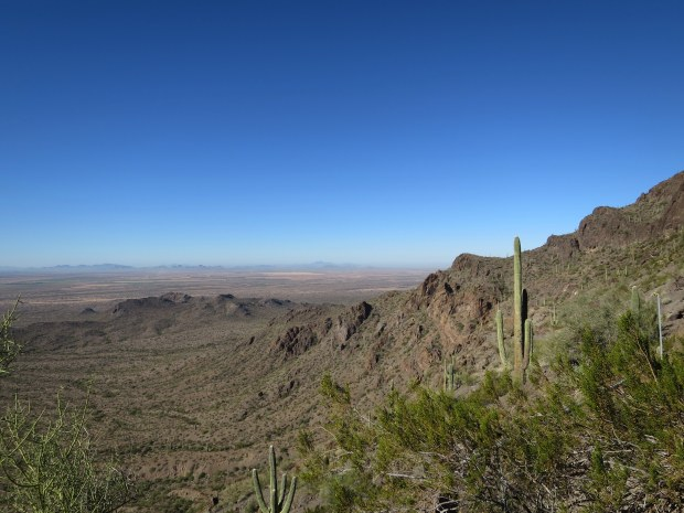 Backside (west side) of the mountain, Hunter Trail, Picacho Peak State Park, Arizona