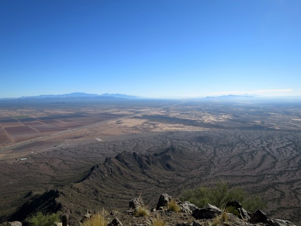 View from the peak, Hunter Trail, Picacho Peak State Park, Arizona