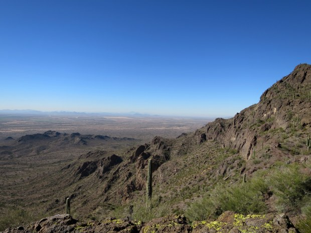 Snack break at the saddle, Hunter Trail, Picacho Peak State Park, Arizona