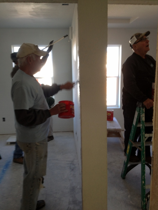 Tom and Lowell painting, Mesilla Valley Habitat for Humanity, Las Cruces, New Mexico