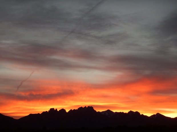 Fantastic sunset in Las Cruces, New Mexico