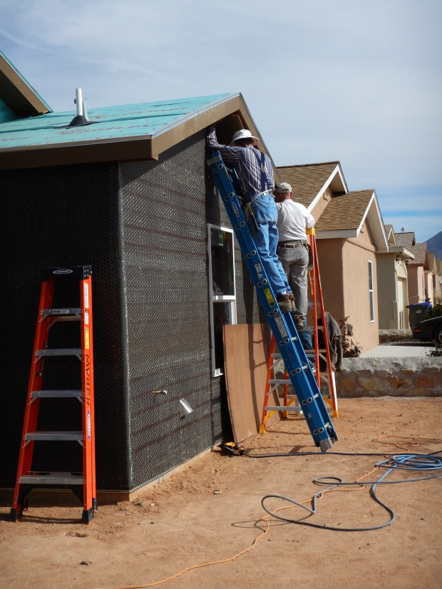 Harvey and Kit hanging soffit, Mesilla Valley Habitat for Humanity, Las Cruces, New Mexico