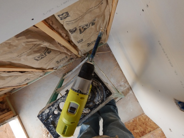 Installing drywall, Mesilla Valley Habitat for Humanity, Las Cruces, New Mexico
