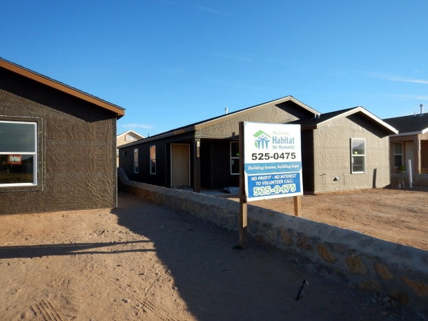 Two of the houses in progress, Mesilla Valley Habitat for Humanity, Las Cruces, New Mexico