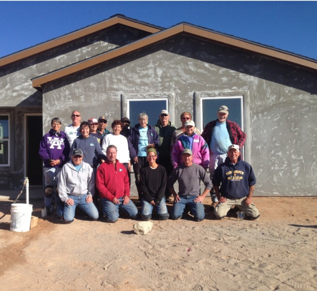 Photo taken by homeowner whose house we were grouting, Mesilla Valley Habitat for Humanity, Las Cruces, New Mexico