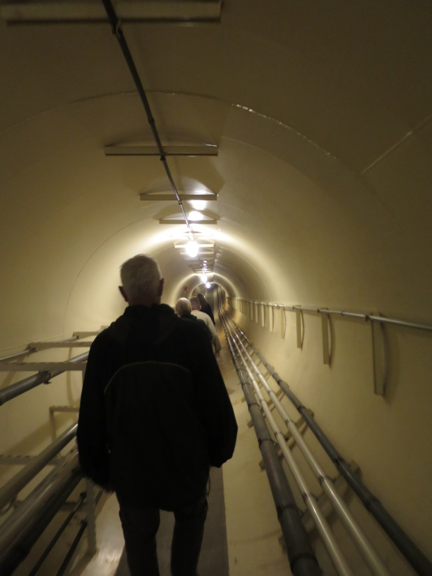 Descending though tunnel to lung, Biosphere 2, Arizona