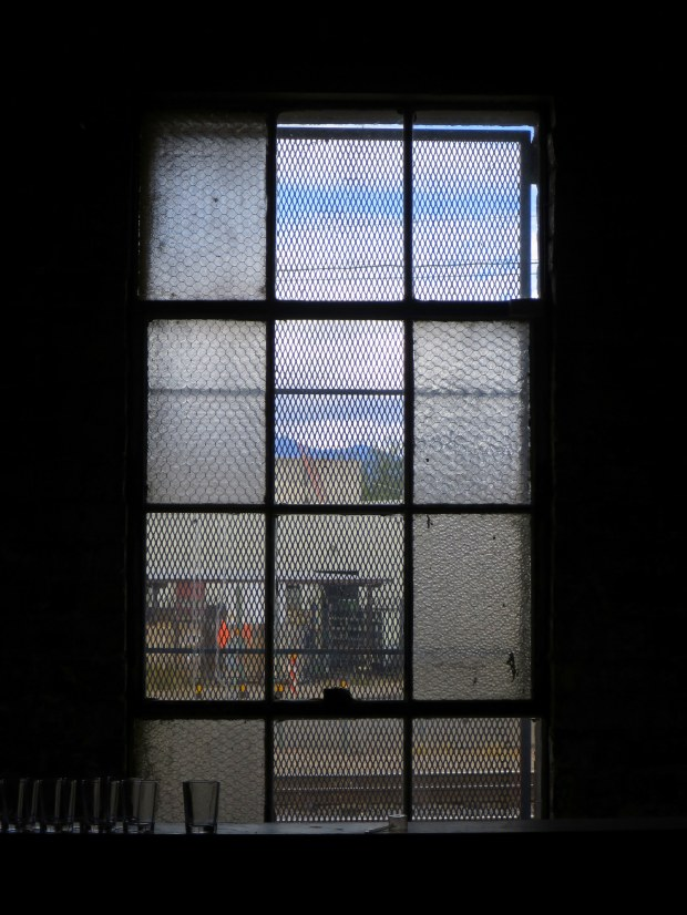 Warehouse window, Borderlands Brewing Company, Tucson, Arizona