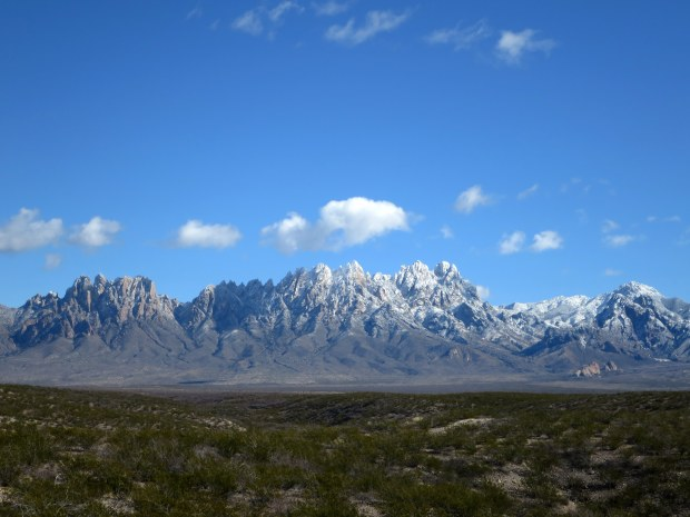 Organ Mountains in snow, Las Cruces, New Mexico