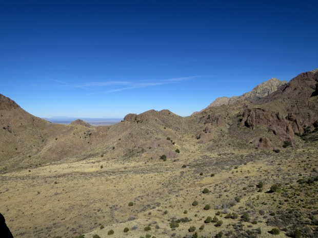 Looking north into Bar Canyon from a ridge, Soledad Canyon Recreation Area, New Mexico