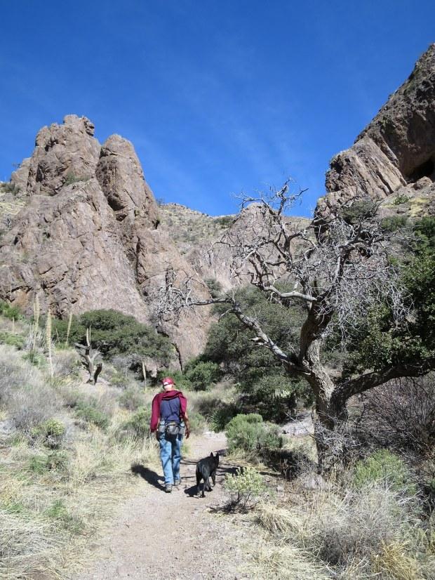 Bar Canyon narrowing, Soledad Canyon Recreation Area, New Mexico